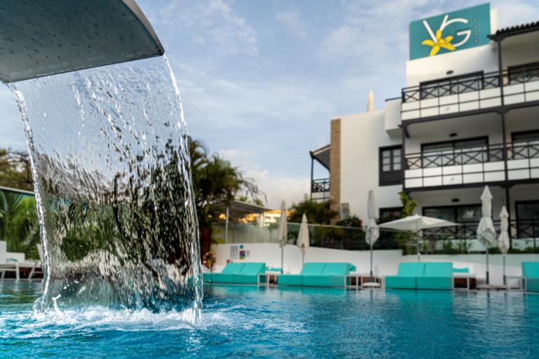 Hidromasaje en la piscina Vanilla Garden Hotel Boutique